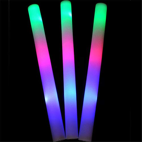 Hengyuanyi Flow Sticks 100 Stück Glow Stick Party LED Light Stick mit individuellem Logo Soft Cheering für Hochzeit Geburtstag Glow Party Supplies (Party Supplies Geburtstag Glow)