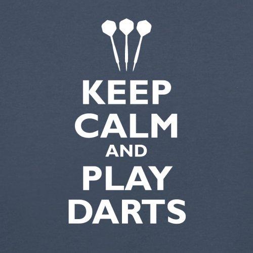 Keep Calm and Play Darts - Herren T-Shirt - 13 Farben Navy