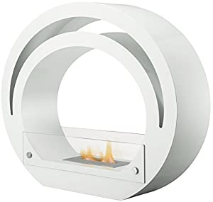 Adam The Globe Bio Ethanol Fireplace Suite in Pure White, 39 Inch