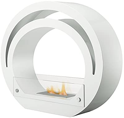 Adam The Globe Bio Ethanol Fireplace Suite in Pure White, 39 Inch