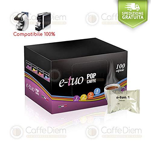 Pop Caffè 300 Capsule Cialde Compatibili Mitaca Mps Supremo Forte Intenso E-Tuo + CAFFE' DIEM