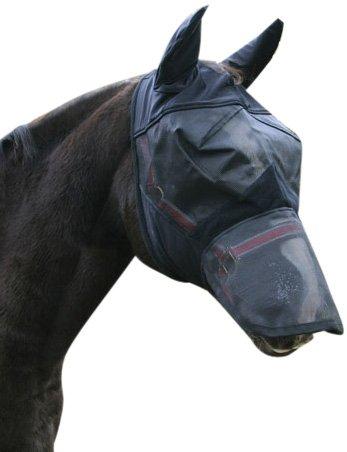 Kerbl 321274 Fliegenschutzmaske WB, inklusiv Nasenrücken- und Ohren Schutz