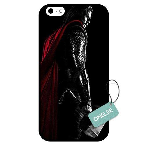 onelee (TM)-personnalisé Thor dieu du tonnerre Coque en TPU pour Apple iPhone 6-Noir 01