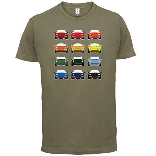 Porsche 993 Farbmuster - Herren T-Shirt - 13 Farben Khaki