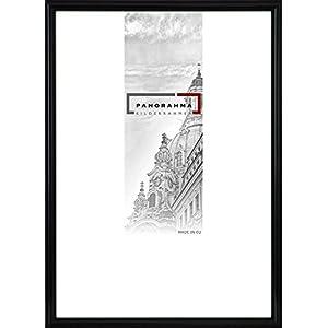 Kunststoff Bilderrahmen, Bildformat: 40 x 60 cm, Schwarz, Echtglas