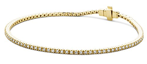 Miore I1 White 1.0 carats Diamond 9ct Yellow Gold Bracelet