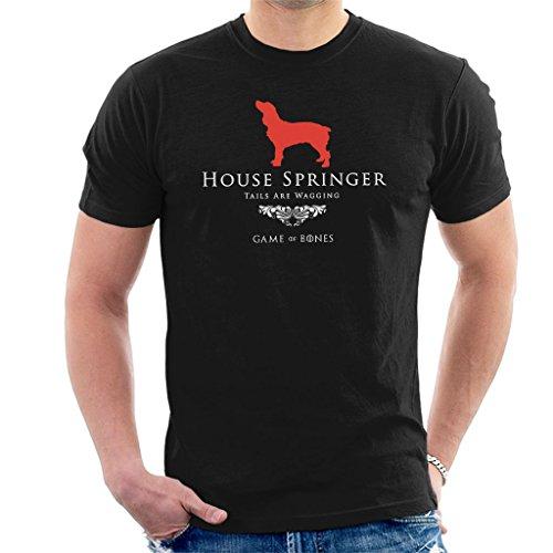 Coto7 Game Of Bones House Springer Spaniel Game Of Thrones Parody Men's T-Shirt