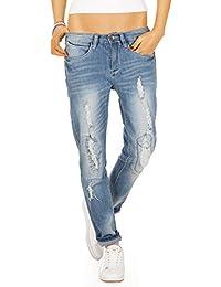 Bestyledberlin Pantalon en jean pour femmes, jean boyfriend j63en