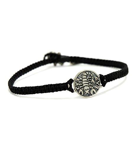 MIZZE Jewelry Charm-Armband für Damen, handgefertigt, schnelle Erholung und Gesundheit, Silber, Schwarz - Schnelle Erholung