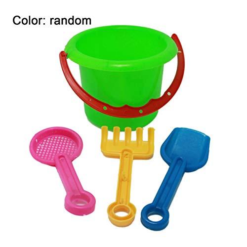 4 stücke Neuheit Mini Strand Spielzeug Set Sand Eimer Eimer mit Schaufel Rechen Sommer Pool Strand Sand Spielen Spielzeug Geschenk für Kinder Kinder zufällig