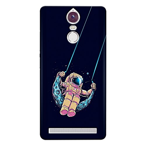 CrazyInk Premium 3D Back Cover for Lenovo Vibe K5 Note - Spaceman Swing on Moon