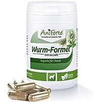 AniForte Wurm-Formel 50 Kapseln für Hunde, praktische und 100 Prozent natürliche Einmalgabe Bei und Nach Wurmbefall