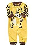 Binwwe Kleinkind Giraffe Cartoon Strampler Jungen Mädchen Unisex Kleidung (12-18M, D)