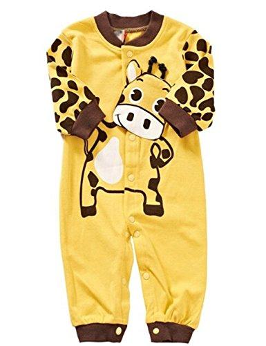 Unisex Baby Schlafstrampler Strampler Mädchen Junge Einteiler Schlafanzug Baby Kleidung Strampelanzug Baby Neugeborenen Set Babybody Langarm Babykleidung Set (6-9M, D) ()