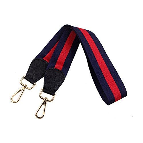 Umily Sostituzione Cinghia di spalla Cinghia di spalla rimontabile Cinghie di Borsa Tracolla Sostituzione Borsa Crossbody(Blu + Rosso Pelle)