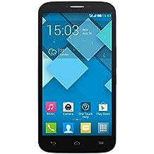 Alcatel Onetouch Smartphone Dual-microSIM (12,7 cm (5,5 Zoll) Touchscree, 8 Megapixel Kamera, Quad Core Prozessor, 1,3GHz, Android 4.2) schwarz