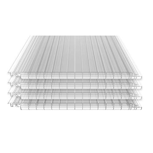 Stegplatten + Befestigung   Terrassendach Haiti  Polycarbonat   16 mm