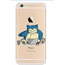 iPhone 5c Pokemon Caja de Silicona / Snorlax Ordenador Portátil Cubierta de Gel para Apple iPhone 5C / Protector de Pantalla y Paño / iCHOOSE