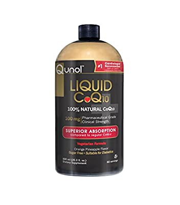 Qunol Ultra High Absorption All Natural Liquid CoQ10 100mg 60-Servings