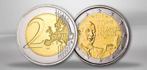Piece 2 Euros 70 Ans Appel 18 Juin Occasion Pas Cher à Vendre à 55