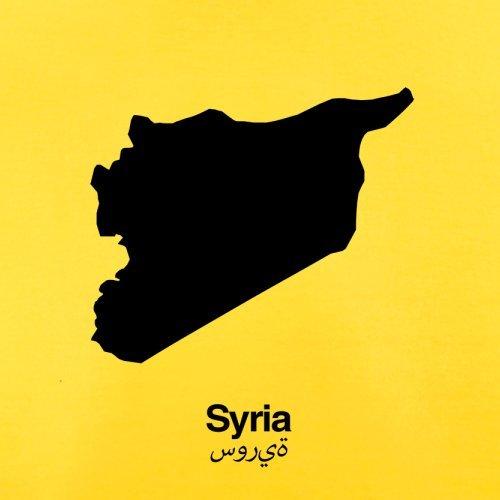 Syria / Syrien Silhouette - Herren T-Shirt - 13 Farben Gelb