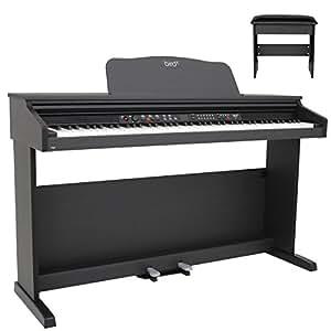 Bird DP1 Piano numérique meuble Noir avec banquette