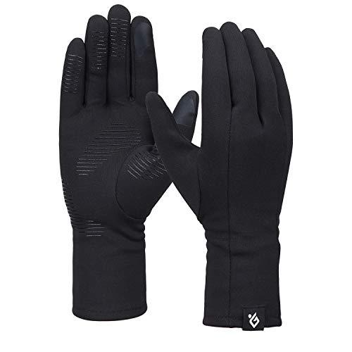 Bequemer Laden Damen Winter Warme Touchscreen Handschuhe Winddichte Leichte Rutschfeste Handschuhe, Schwarz, M