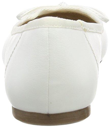 Tamaris Damen 22100 Geschlossene Ballerinas Weiß (WHITE MATT 108)