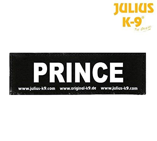 Julius-K9 Klettverschluss Prince-Paar von Etiketten für Latz Julius-Power Oder Belt, erhältlich in Zwei Größen Small (da TG. Baby1 a TG. 0) (K9 Hundemantel)