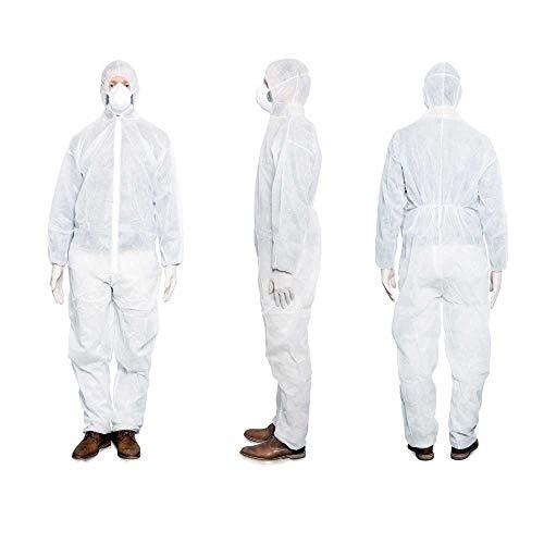 MaiMed Overall Schutzanzug Schutzkleidung Arbeitsanzug Anzug Maler, weiß, XL, 1 St