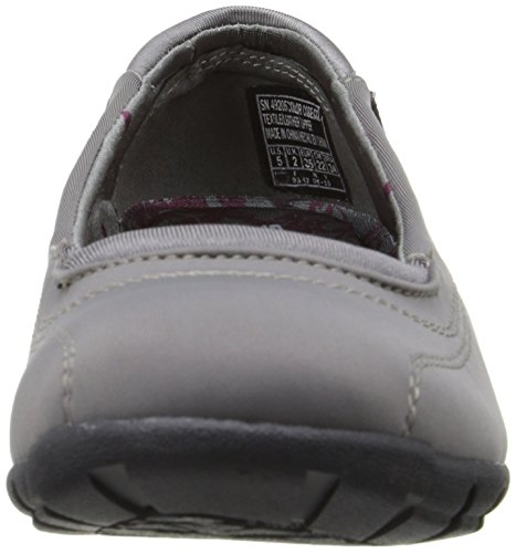 Skechers Women's Career First Impression Ballet Flat Charcoal Leather