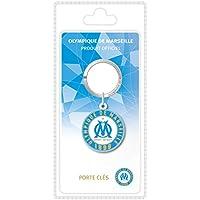 OLYMPIQUE DE MARSEILLE La Plume Dorée Logo Porte-Clefs Sous Blister PVC Multicolore 8,5 x 18 x 2,5 cm