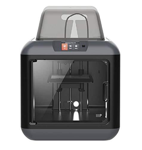 Monoprice 150 3D-Drucker - Schwarz mit (150 x 140 x 140 mm) herausnehmbarer Bauplatte, vollständig geschlossen, Touchscreen, unterstütztes Ausrichten, extrem leises Drucken, einfaches WLAN - 2