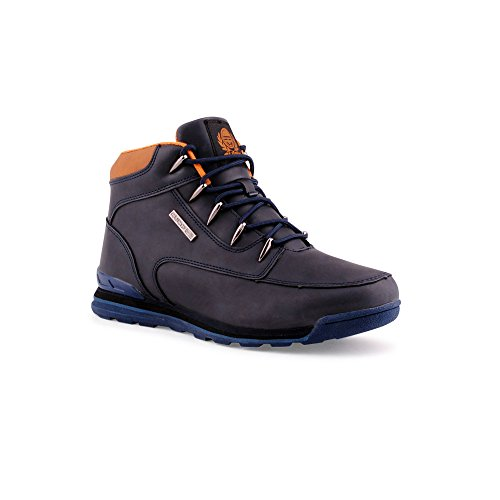 Herren Outdoor Sneaker Schnürboots Stiefel Stiefeletten Worker Schuhe Blau EU 43