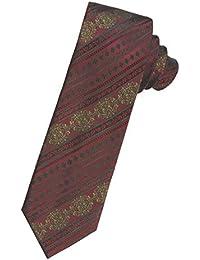 Krawatte Rot Schwarz Lila Gold Blau Orange-Braun Silber 100/% Seide Herren Ascot