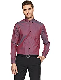 Arrow Men's Solid Slim Fit Cotton Formal Shirt
