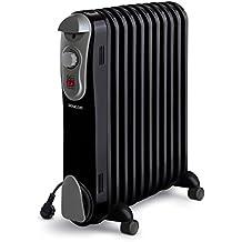 Sencor SOH 3111BK - Radiador eléctrico de aceite, funcionamiento silencioso 230 V, ...