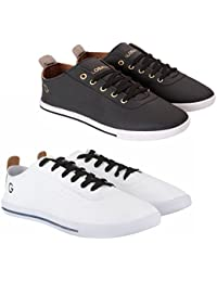 Globalite Stylish Casual Shoes For Men Combo Pack Of 2 Sneakers For Boys