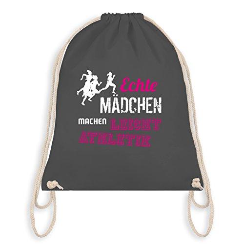Sonstige Sportarten - Echte Mädchen machen Leichtathletik - Unisize - Dunkelgrau - WM110 - Turnbeutel & Gym Bag
