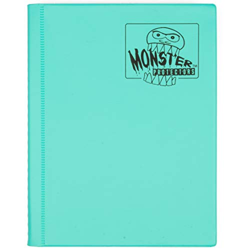 Monster Binder - 4 Pocket Trading Card Album - Matte Teal (Anti-theft Pockets Hold 160+ Yugioh, Pokemon, Magic the Gathering Cards) by Monster Binders
