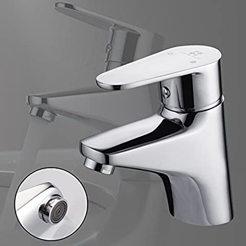 Homelody Washroom Basin Sink Mixer Taps Mono Single Lever Chrome Finish Bathroom Lever Faucet