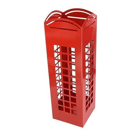 CKB Ltd® RED London Phone Box Umbrella Holder Traditonal English Phonebox - Metal Floor Rack Free Standing also for Canes / Walking Sticks