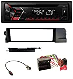 caraudio24 Pioneer DEH-S100UB USB MP3 AUX CD 1DIN Autoradio für BMW 3er E46 (Profiversion Quadlock)