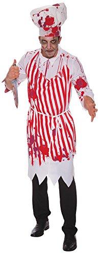 Bristol Novelty AC809 Blutiger Fleischer (Blutige Mörder Kostüm)