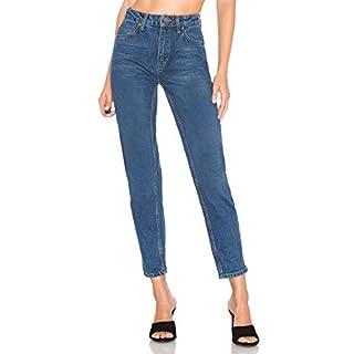 H HIAMIGOS Damen Jeans Mom - Straight Fit - High Waist - Dark Stonewash - M