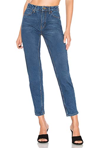 H hiamigos mom jeans slim a vita alta jeans da donna stile boyfriend pantaloni vintage retrò in denim lavaggio scuro it42