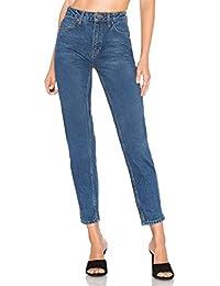 e7eeaf5535cb6 H HIAMIGOS Mujer Vaqueros Básicos Jeans Mom Fit Tiro Alto Pantalón Vaquero  para Mujer
