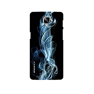 RICKYY Smokey design printed matte finish multi-colored back case cover for OnePlus 3T