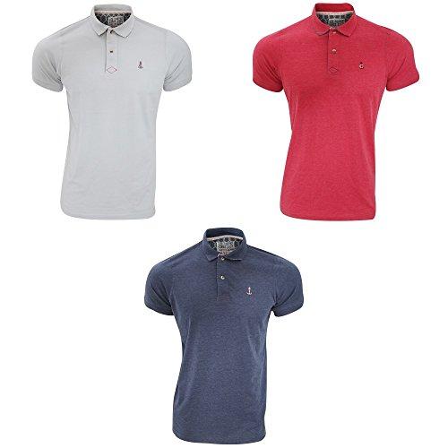 Lee Cooper Mens Dalberg Cotton Mix Lightweight Short Sleeved Polo Shirt