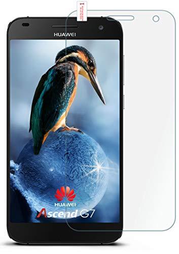 moex 9H Panzerfolie für Huawei G7 | Panzerglas Bildschirm Glasfolie [Tempered Glass] Screen Protector Glas Bildschirmschutz-Folie für Huawei Ascend G7 Schutzfolie